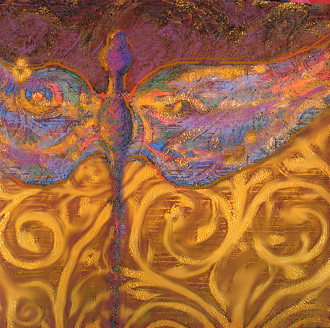 Golden Dragonfly - SOLD